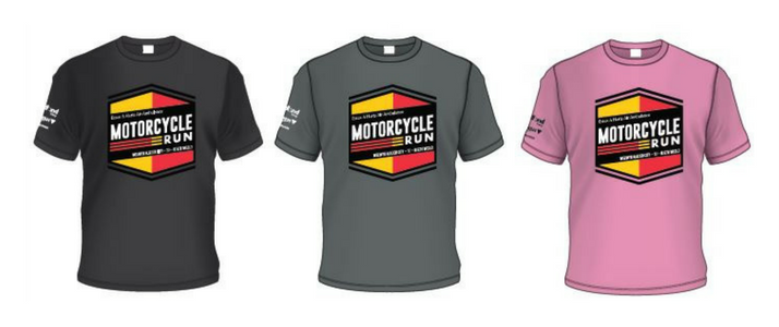 Motorcycle Run tshirts front