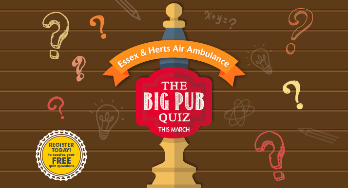 The Big Pub Quiz - Essex & Herts Air Ambulance - EHAAT