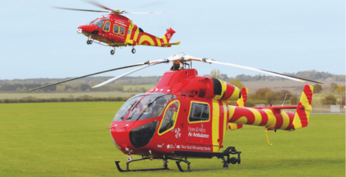 MD902 and AW169 helicopters