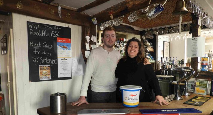 Sharon Alford and Ciaran O'Connor The Bell Inn.